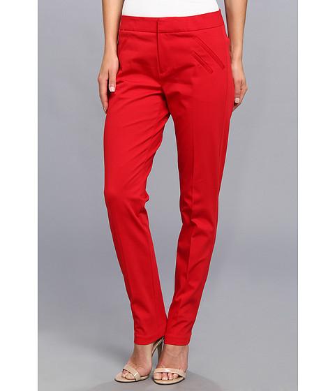 Pantaloni Christin Michaels - Ankle Pant with Angle Slit Pockets - Lipstick