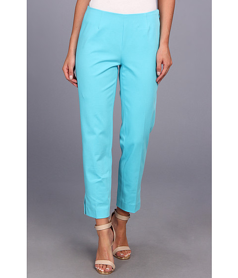Pantaloni Christin Michaels - Carren Cropped Side-Zip Pant - New Turquoise