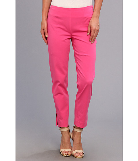 Pantaloni Christin Michaels - Carren Cropped Side-Zip Pant - Strawberry