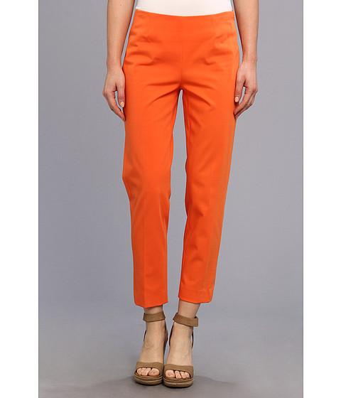 Pantaloni Christin Michaels - Carren Cropped Side-Zip Pant - Tangerine