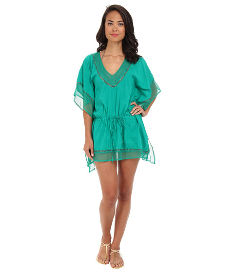 Costume de baie La Blanca - Global Chic Embellished Caftan - Emerald