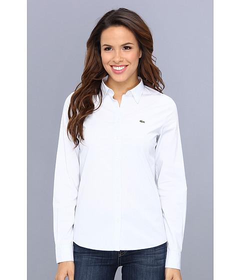 Bluze Lacoste - Long Sleeve Stripe Woven Shirt - Medium Blue