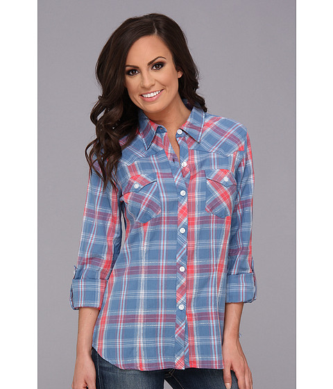 Camasi Roper - 8993 Vintage Plaid Shirt - Blue