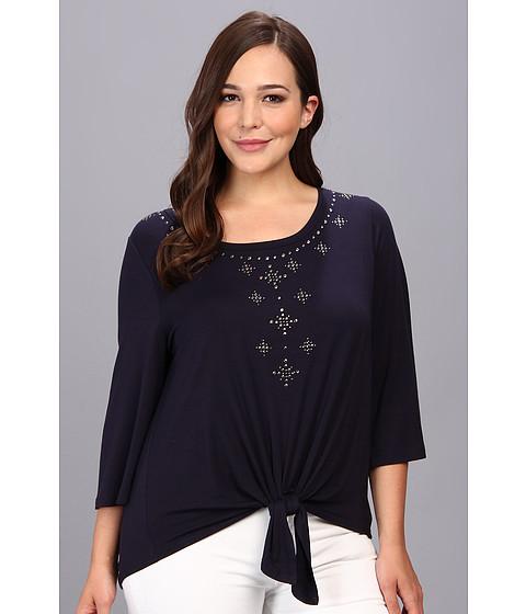 Bluze Karen Kane - Plus Size Front Embellished Top - Navy