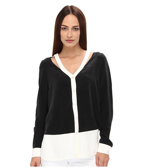 Bluze Rachel Roy - Color Block Blouse - Black/Natural White