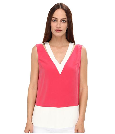 Bluze Rachel Roy - Cut Out Shell - Strawberry/White