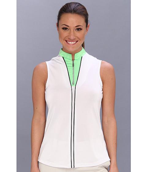 Bluze DKNY - Sylvia Sleeveless Top - Figi Green