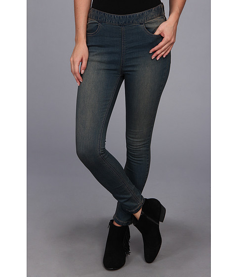 Blugi Free People - Side Zip Indigo Jean in Coyote Wash - Coyote Wash