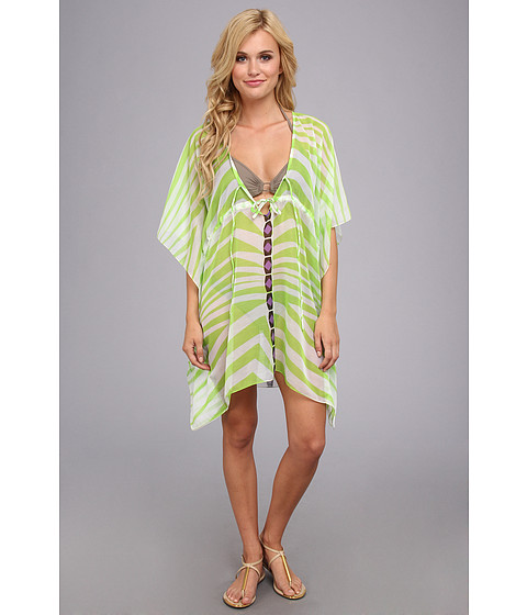 Costume de baie Echo Design - African Zig Zag Tie Butterfly Cover-Up - Chartreuse