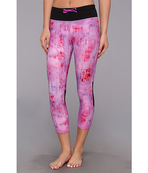 Pantaloni C&C California - Printed Velocity Tight - Neon Fresia