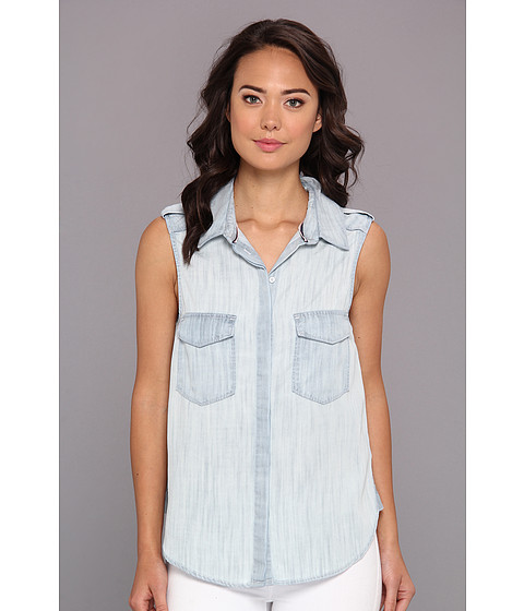 Camasi C&C California - Surf Wash Sleeveless Shirt - Chambray Multi