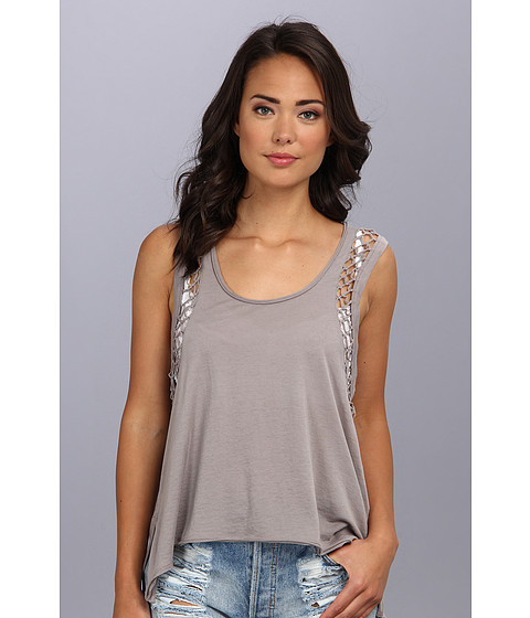 Bluze Free People - Neptune Knotted Tank - Ash