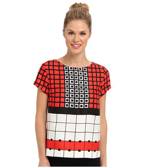 Bluze Anne Klein New York - Geo Print T-Shirt - Camellia/Koi Multi