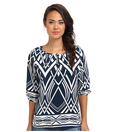 Bluze Brigitte Bailey - Print Top - Blue/White
