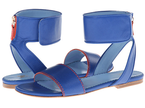 Sandale Missoni - Leather Sandal w/ Contrast Piping - Cobalt