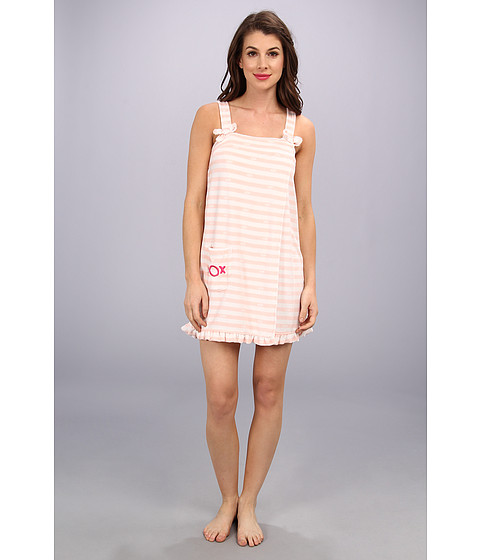 Lenjerie Betsey Johnson - Vintage Terry Wrap - Beach Stripe Soft Pink