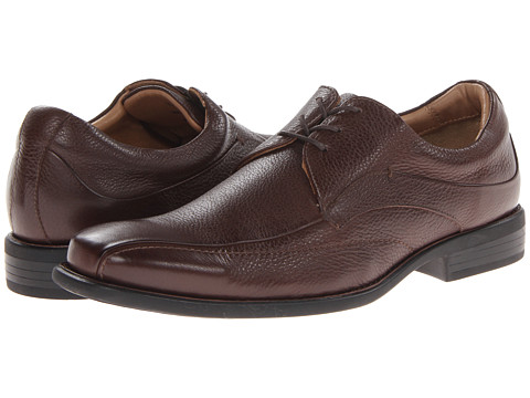Pantofi Johnston & Murphy - Tilden Lace-Up - Dark Brown Tumbled Calfskin