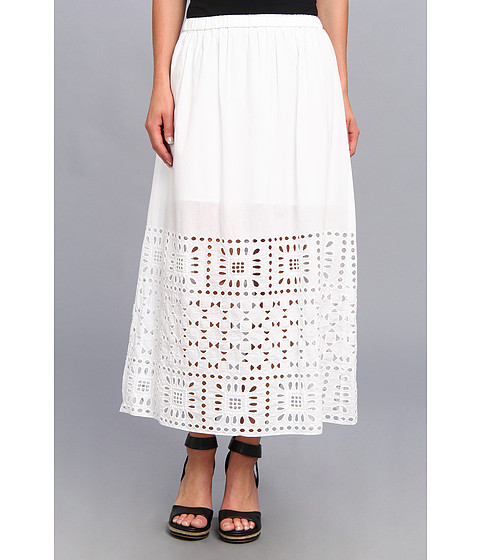 Fuste Vince Camuto - Aztec Border Maxi Skirt - Ultra White