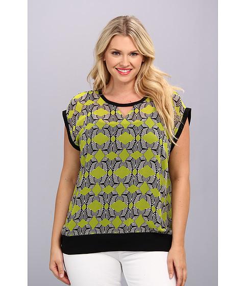 Bluze Vince Camuto - Plus Size S/S Sleeve Tribal Maze Sweatshirt - Rich Black