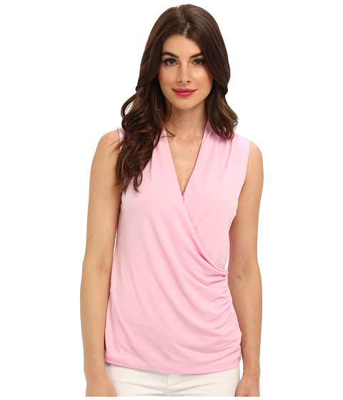 Bluze Jones New York - Sleeveless Wrap Top - Peony