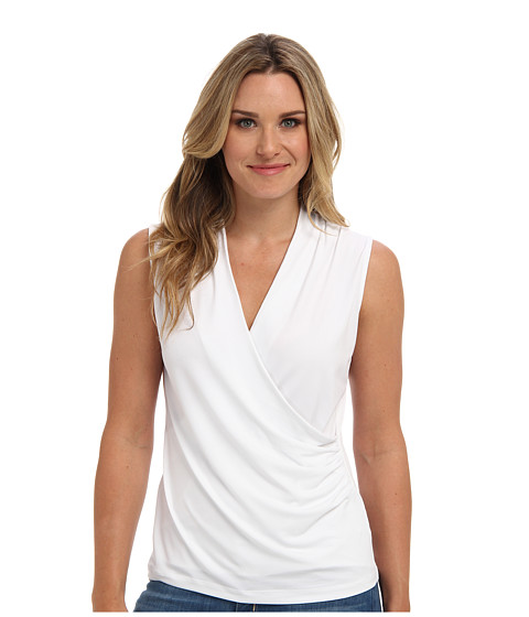 Bluze Jones New York - Sleeveless Wrap Top - White