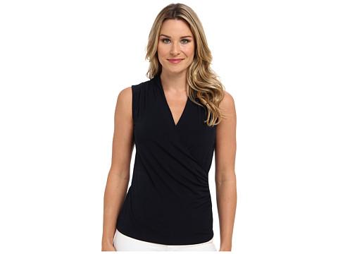 Bluze Jones New York - Sleeveless Wrap Top - Navy