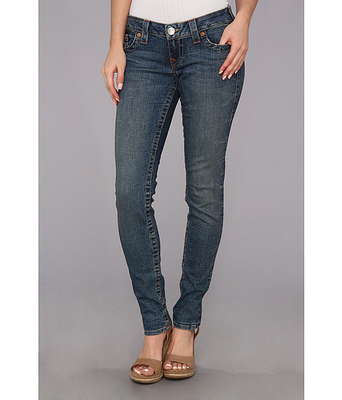 Blugi True Religion - Stella Low-Rise Skinny Original Vintage in Cliff Rock - Cliff Rock