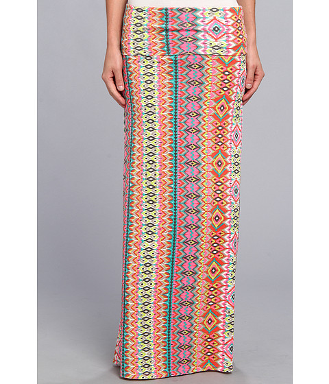 Fuste Roxy - Ocean Treasure Maxi Skirt (Juniors) - SW Fandango Pink Ethnic Stripe