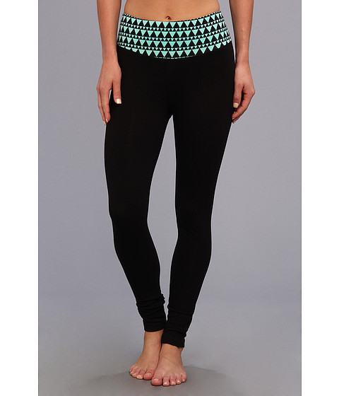 Pantaloni Steve Madden - Printed Waist Yoga Legging - Mint
