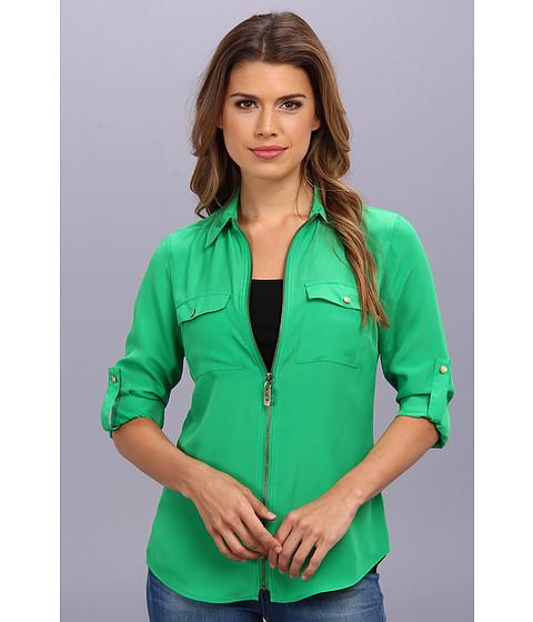 Bluze MICHAEL Michael Kors - Dogtag Zip Camp Shirt - Spring Green