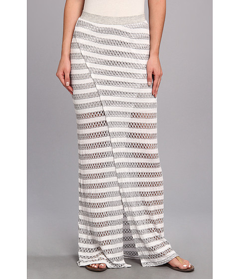Fuste Tart - Giovanna Maxi Skirt - Black/White Stripe