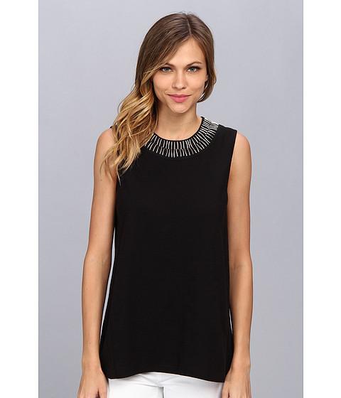 Bluze Vince Camuto - S/L Embellished Collar Top - Rich Black