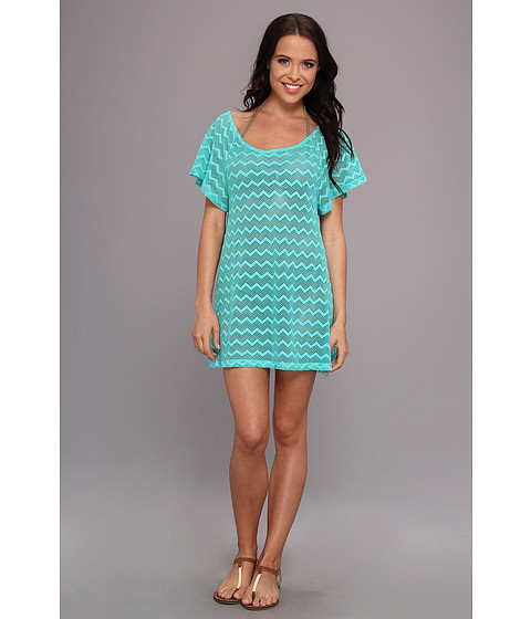 Costume de baie Roxy - Making Waves Free Love Off The Shoulder Dress Cover Up - Light Jade
