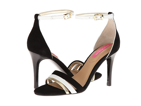 Pantofi Isaac Mizrahi New York - Positano - Black Suede/White/Gold Suede