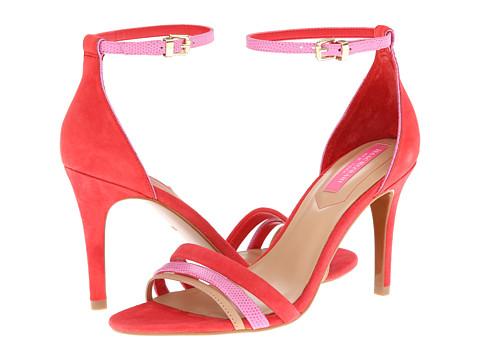 Pantofi Isaac Mizrahi New York - Positano - Red Suede/Pink Suede