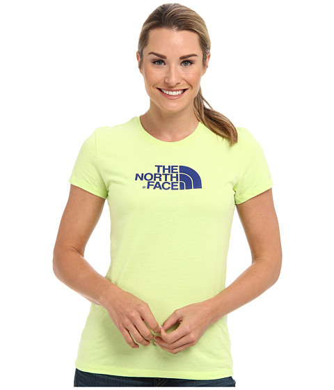 Bluze The North Face - S/S Half Dome Tee - Dayglo Yellow/Marker Blue