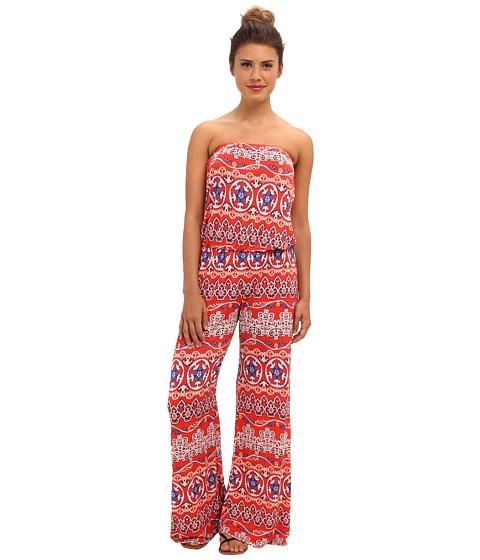 Pantaloni Gabriella Rocha - Strapless Print Jumper - Red