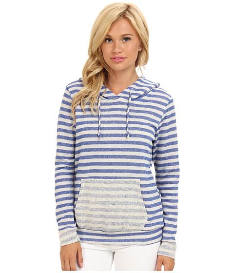 Bluze Gabriella Rocha - Striped Terry Cloth Hoodie - Blue