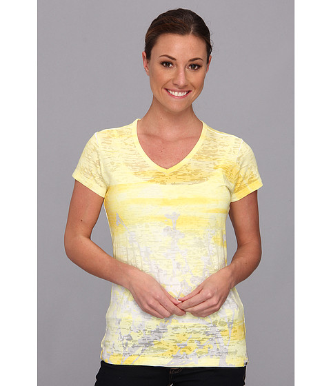 Bluze The North Face - Bloom Burnout V-Neck Tee - Lightning Yellow