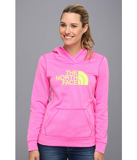Bluze The North Face - Fave-Our-Ite Pullover Hoodie - Azalea Pink Heather/Dayglo Yellow