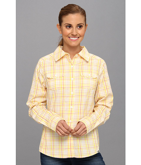 Bluze The North Face - L/S Paramount Woven - Lightning Yellow Plaid