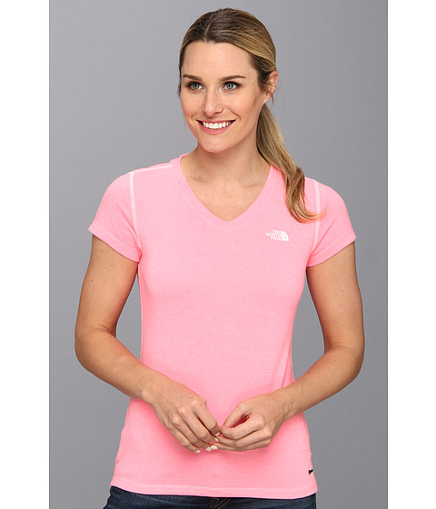 Bluze The North Face - S/S RDT V-Neck Tee - Sugary Pink Heather