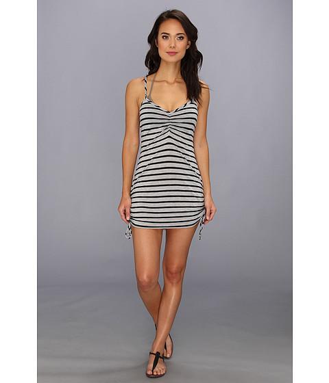 Costume de baie Vitamin A Silver Swimwear - CA Spaghetti Dress Cover-up - Heather Stripe Black
