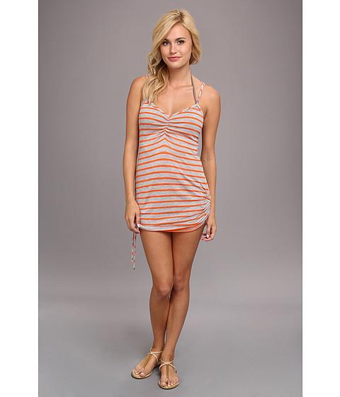 Costume de baie Vitamin A Silver Swimwear - CA Spaghetti Dress Cover-up - Heather Stripe Clementine