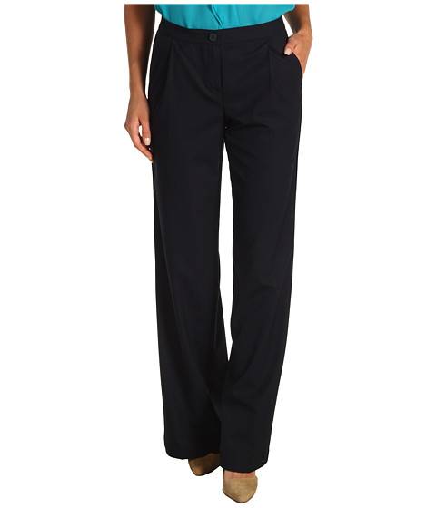 Pantaloni Jones New York - Wide Leg Pant w/Side Seam Detail - New Petrol