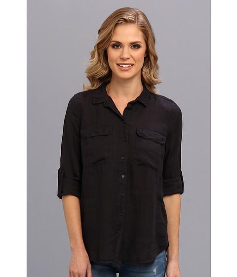 Bluze Calvin Klein - Solid Casual Button Front Shirt - Black