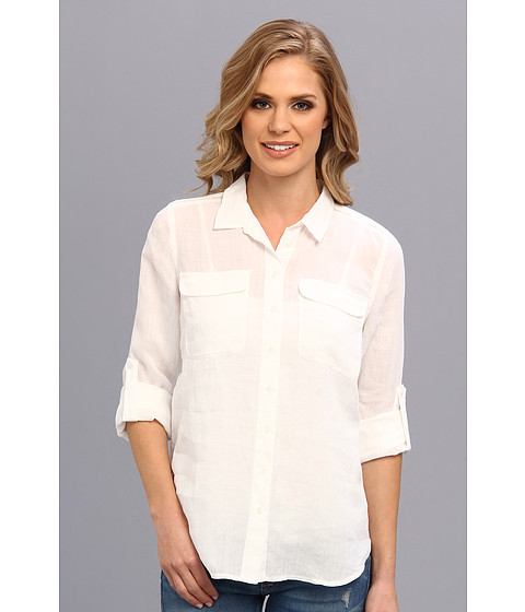 Bluze Calvin Klein - Solid Casual Button Front Shirt - White