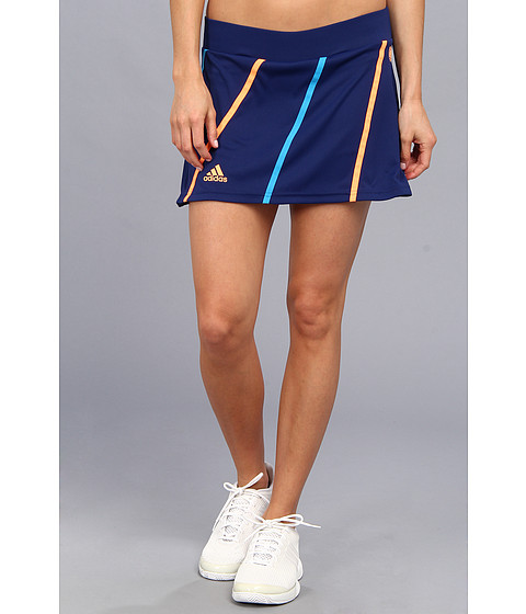 Pantaloni adidas - Roland Garros On-Court Skort - Night Blue/Glow Orange/Solar Blue
