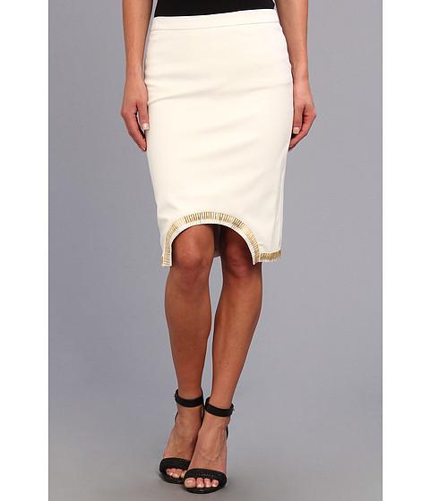 Fuste Brigitte Bailey - Sass Master Midi Pleather Skirt - White