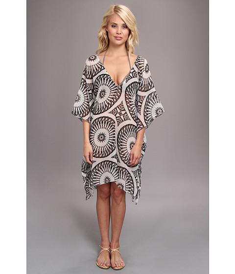 Costume de baie Echo Design - Circular Pendants Caftan Cover-Up - White